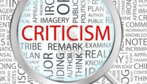 Be careful when offering criticism