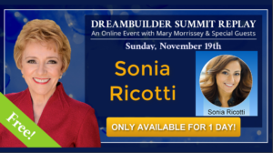 See Sonia Ricotti at The DreamBuilder Summit REPLAY