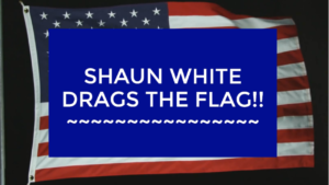 Shaun White Drags American Flag On The Ground